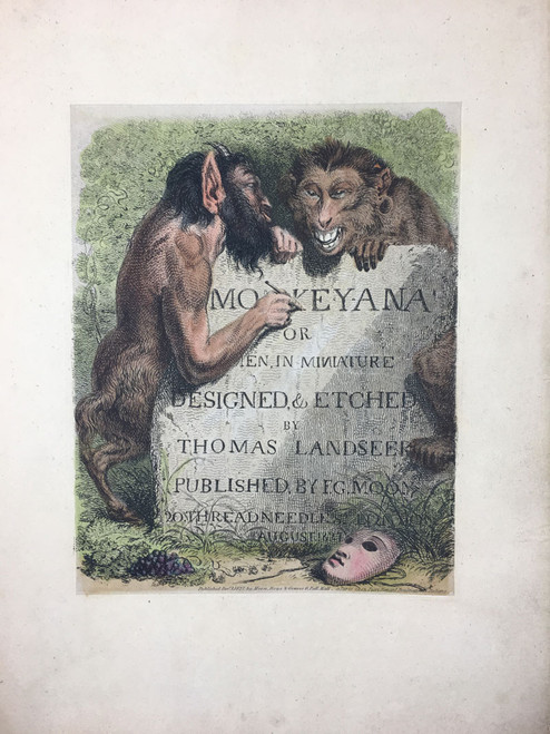 Monkeyana or Men in Minature Title Page