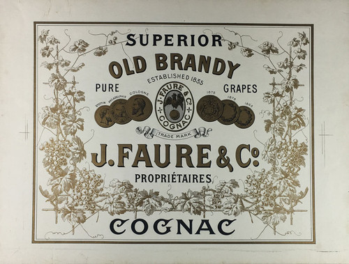Superior Old Brandy Cognac J. Faure & Co.