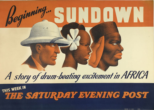 The Saturday Evening Post Bus Ad