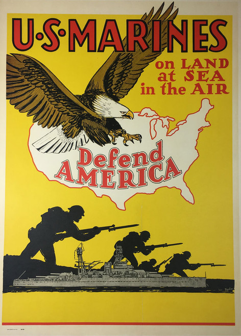 U S Marines on Land at Sea in the Air Defend America