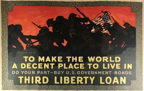 US Govt Bonds Third Liberty Loans