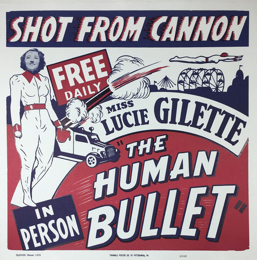 Lucie Gilette Human Bullet