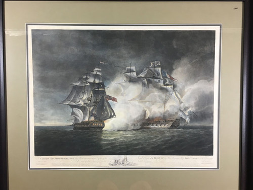 To Captain Sir Thomas Williams…Capture of the French Frigate La Tribue by His Majesty