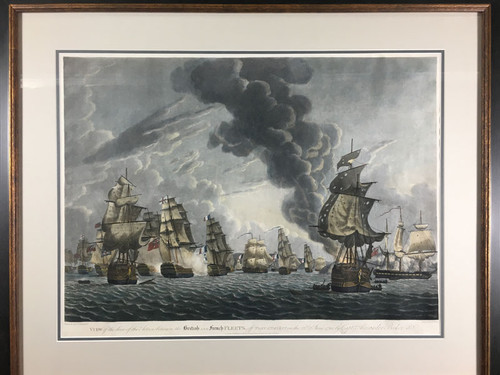 View of the Close Action..British French Fleets..Port L'Orient..23rd June 1795