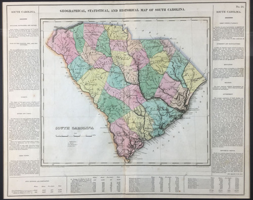 Geographical, Statistical & Historial Map of South Carolina