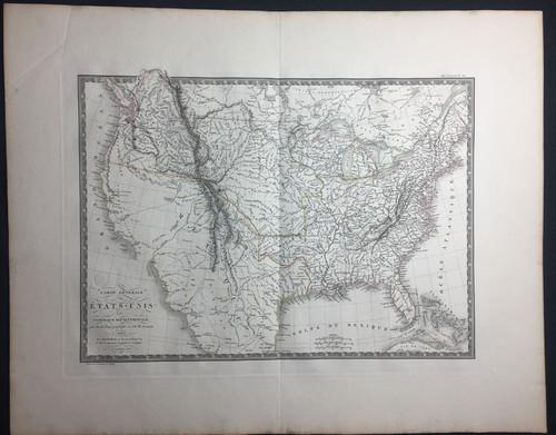 Carte Generale des Etats-Unis de L'Amerique Septentrionale