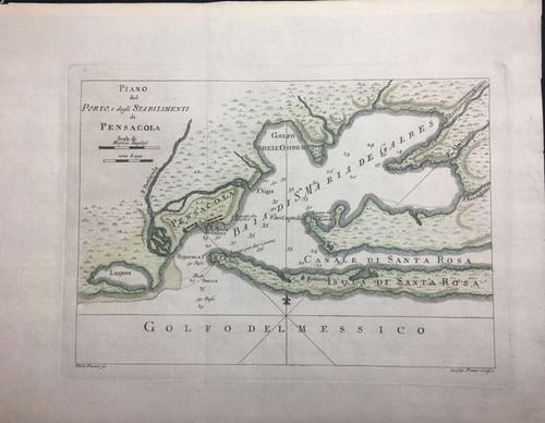 Piano del Porto, e degli Stabilimenti di Pensacola