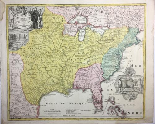 Amplissimae Regionis Mississipi Seu Provinciae…Bison Cartouche