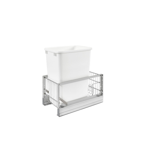 35 Qrt Pull-Out Waste Container, 18 in Depth