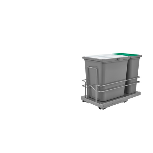Rev-A-Shelf 5SBWC-815S-1 Sink Base Waste Containers Pullout
