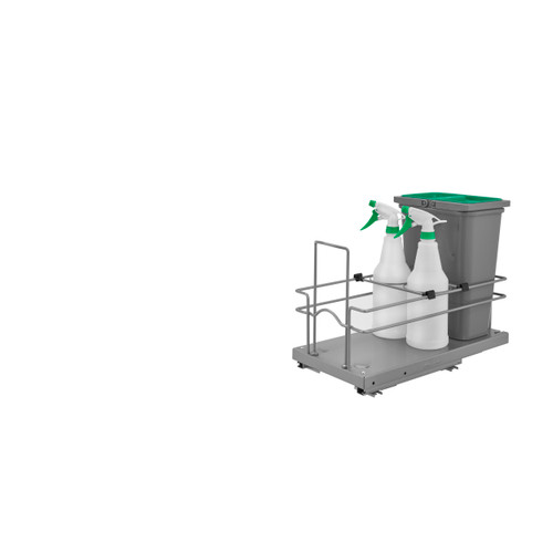 Rev-A-Shelf 5SBWCC-8S-1 Sink Base Waste and Cleaning Pullout