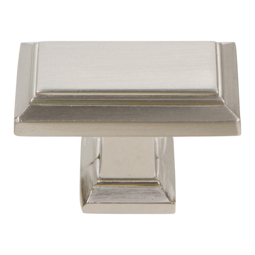 290-BRN Sutton Place Rectangle Knob Brushed Nickel