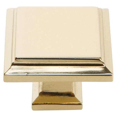 289-FG Sutton Place Square Knob French Gold