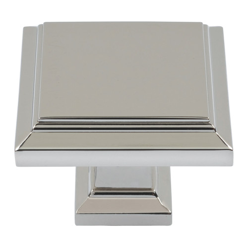 289-PN Sutton Place Square Knob Polished Nickel