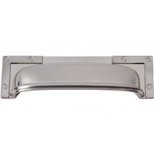 382-BRN Campaign L-bracket Cup Pull 96mm Cc Brushed Nickel