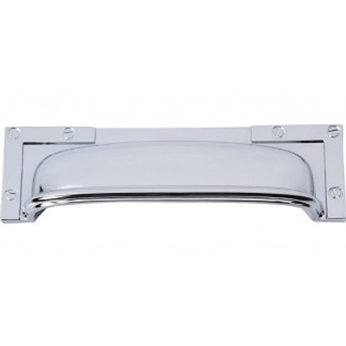 382-CH Campaign L-bracket Cup Pull 96mm Cc Polished Chrome
