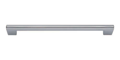 A829-CH Round Rail Pull 192 Mm Polished Chrome