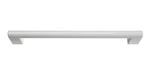 A829-WG Round Rail Pull 192 Mm High Gloss White