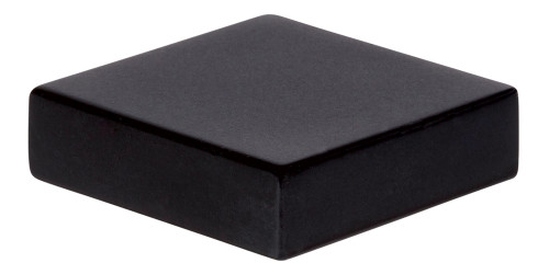 A833-BL Thin Square Knob Matte Black