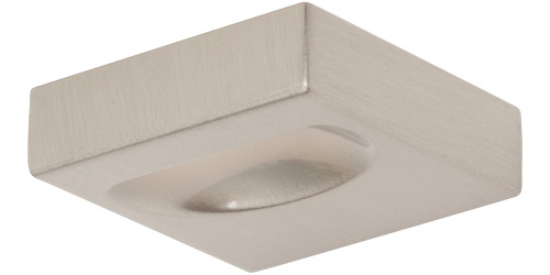 A833-BN Thin Square Knob Brushed Nickel