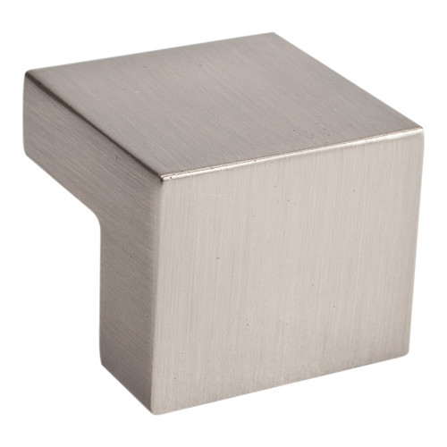 A865-BN Small Square Knob 16mm Cc Brushed Nickel