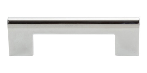 "A878-CH Round Rail Pull 3"" Cc Polished Chrome"