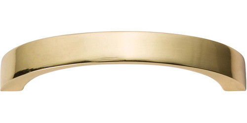 """398-FG Tableau Curved Handle 2 1/2"""" French Gold"""