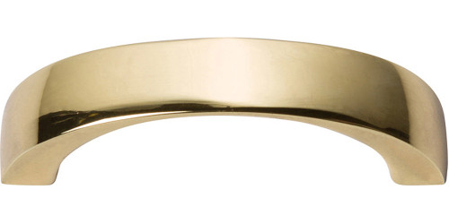 """397-FG Tableau Curved Handle 1 7/8"""" French Gold"""