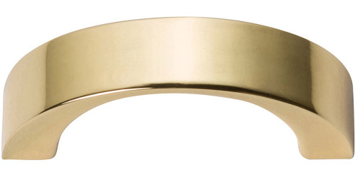 """396-FG Tableau Curved Handle 1 7/16"""" French Gold"""
