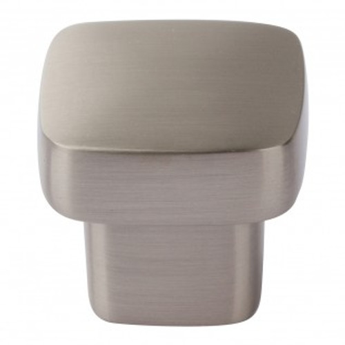 A908-BN Chunky Square Knob Small Brushed Nickel