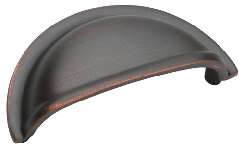 BP4235ORB Solid Brass Cup Pulls Collection 3 in (76 mm) Center Cabinet Cup Pull - Oil-Rubbed Bronze