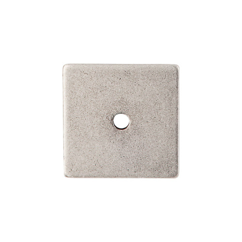 """TK95PTA Square Backplate 1 1/4"""" - Pewter Antique"""