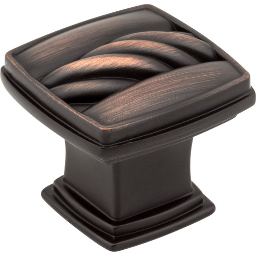 125DBAC Encada Rope Cabinet Knob Brushed Oil Rubbed Bronze