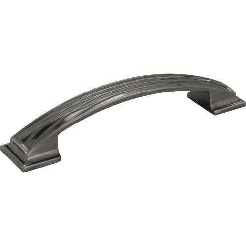535-128BNB Aberdeen Lined Cabinet Pull 128 mm CC Brushed Black Nickel