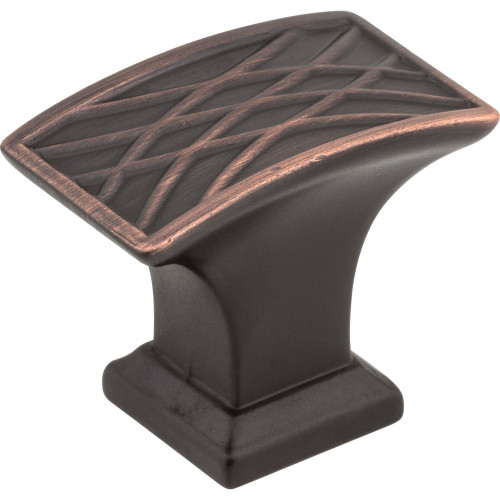 535L-DBAC Aberdeen Rectangle Lined Cabinet Knob Brushed Oil Rubbed Bronze