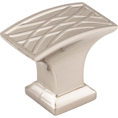 535L-SN Aberdeen Rectangle Lined Cabinet Knob Satin Nickel