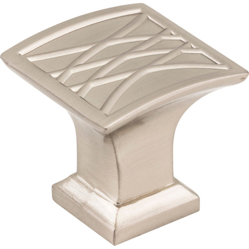 535SN Aberdeen Square Lined Cabinet Knob Satin Nickel