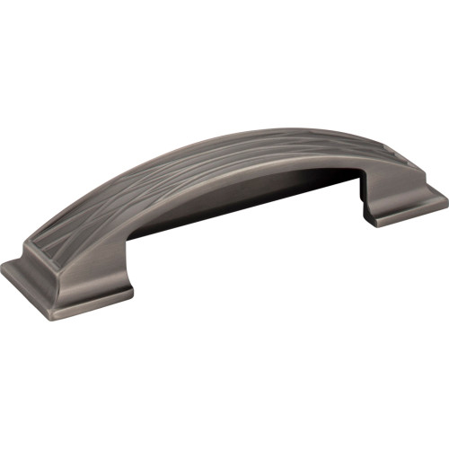 536-96BNBDL Aberdeen Lined Cabinet Cup Pull 96 mm CC Brushed Pewter