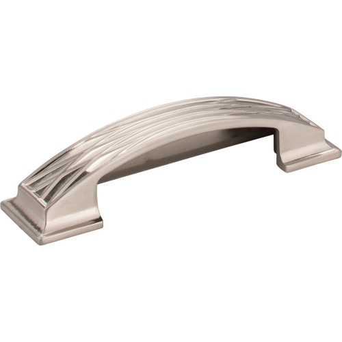 536-96SN Aberdeen Lined Cabinet Cup Pull 96 mm CC Satin Nickel