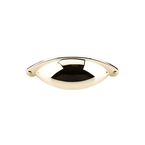 """M398 Somerset Cup Pull 2 1/2"""" (c-c) - Polished Brass"""