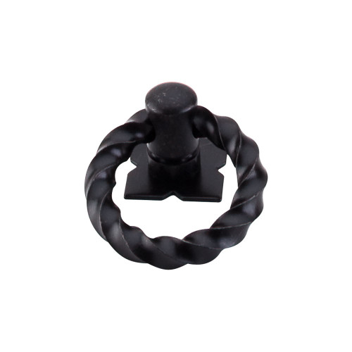 "M641 Twist Ring Pull w/Backplate 1 3/8"" - Patina Black"