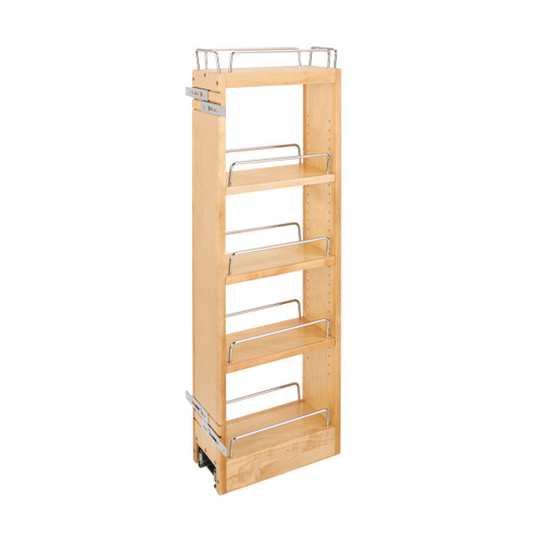 Rev-A-Shelf 448-BBSCWC36-5C 5 in x 36 in H Wood Pull Out Wall Organizer w/Soft Close