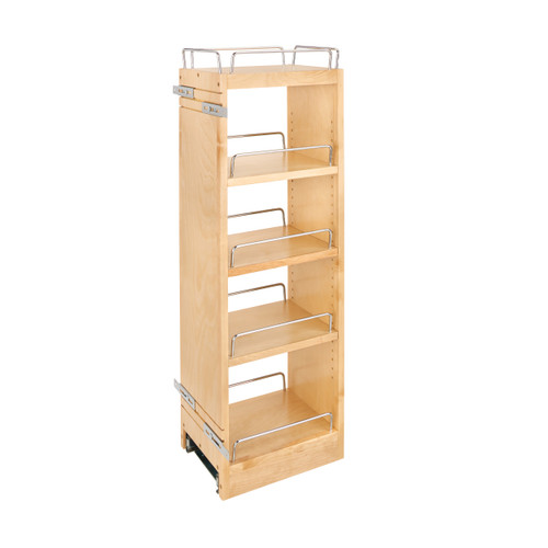 Rev-A-Shelf 448-BBSCWC36-8C 8 in x 36 in H Wood Pull Out Wall Organizer w/Soft Close