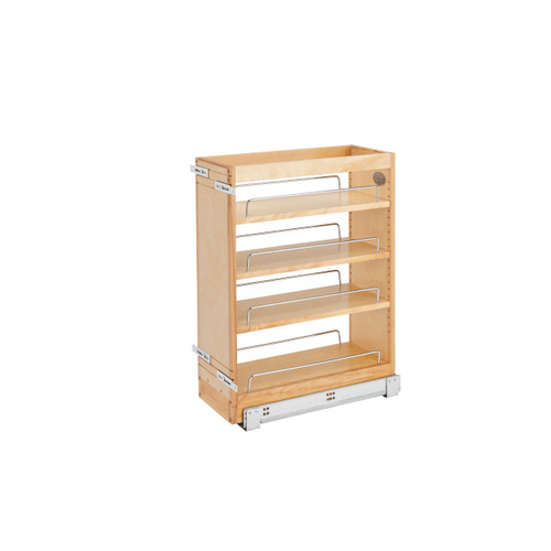 Rev-A-Shelf 448-BC19SC-8C 8 in Wood Vanity Pullout Cabinet Organizer w/Soft-Close