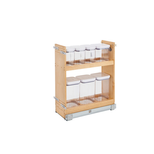 8 in Base Cabinet Organizer w/ OXO Containers w/Soft-Close