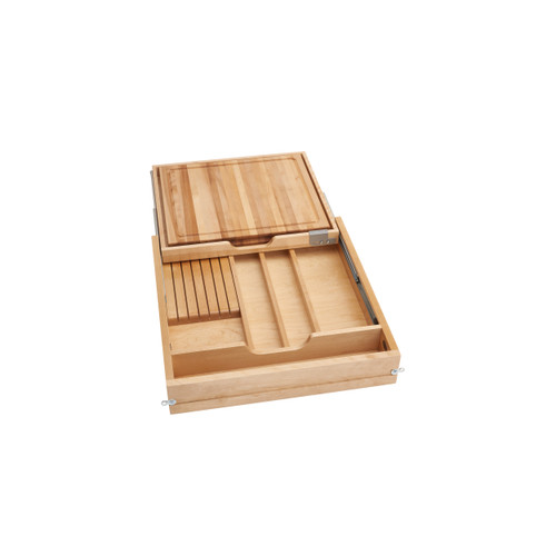 24 in Knife and Cutting Board Drawer Kit Soft Close