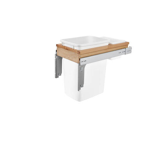 """35 Qrt Top mount Waste Container (1-1/2"""" faceframe)"""