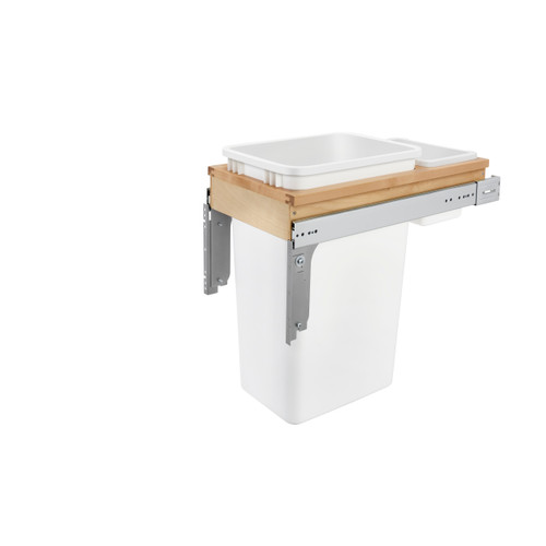 """50 Qrt Top mount Waste Container (1-1/2"""" faceframe)"""
