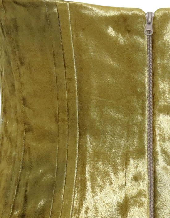 RS-6567 Corsetto in ciniglia in seta oro