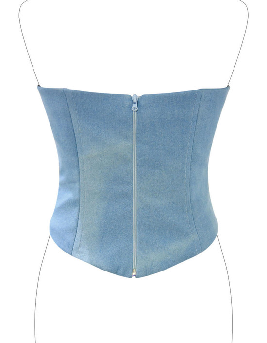 Corsetto in jeans vintage style